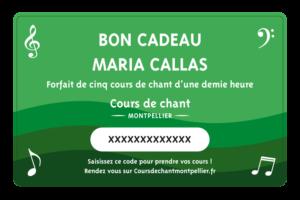 NEW CARTE MARIA CALLAS